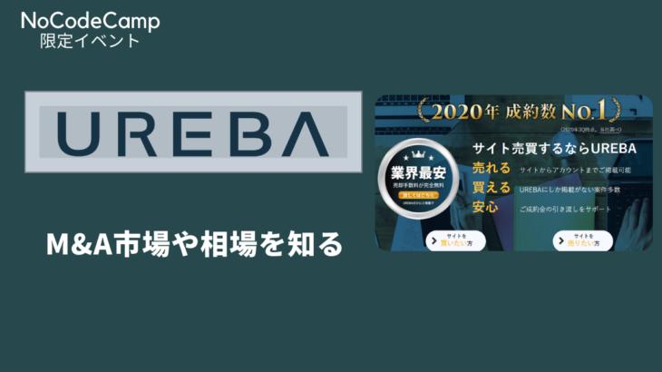 サイト売買仲介サービス大手UREBAと組み開催する『M&A市場や相場について学ぶセミナー』サムネイル